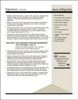 executive resume sles